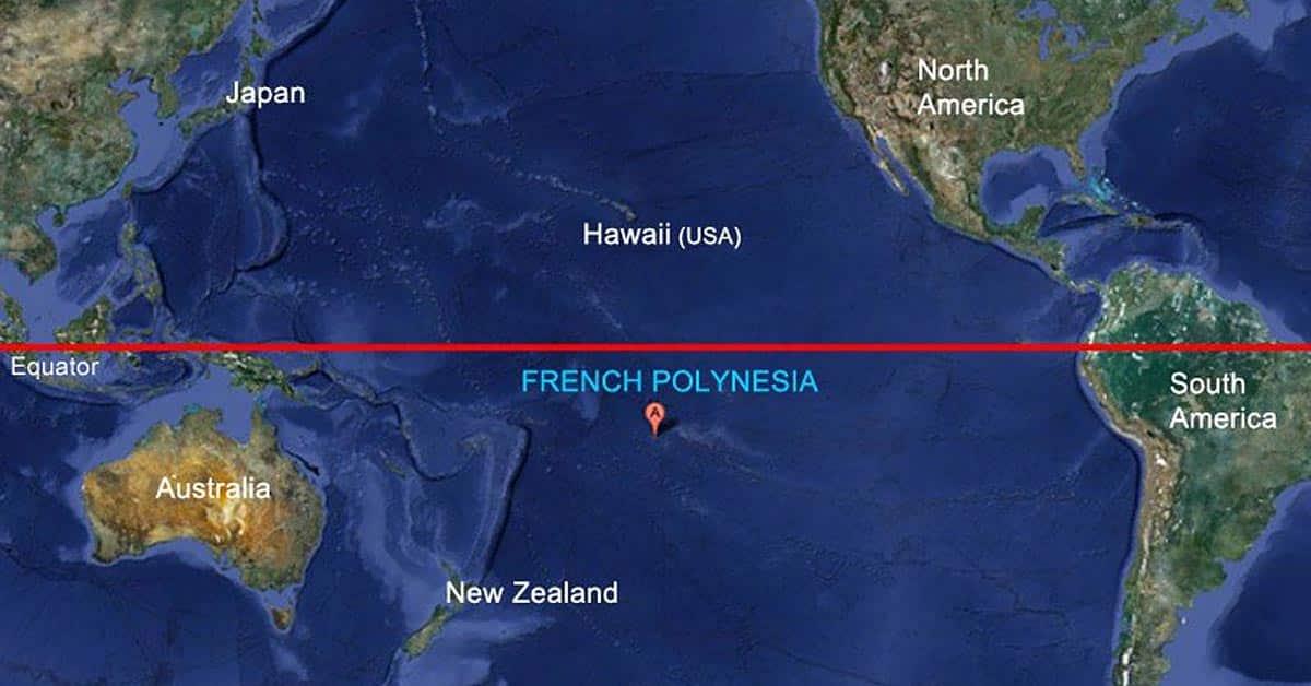 Où est la Polynésie française sur la carte du monde?